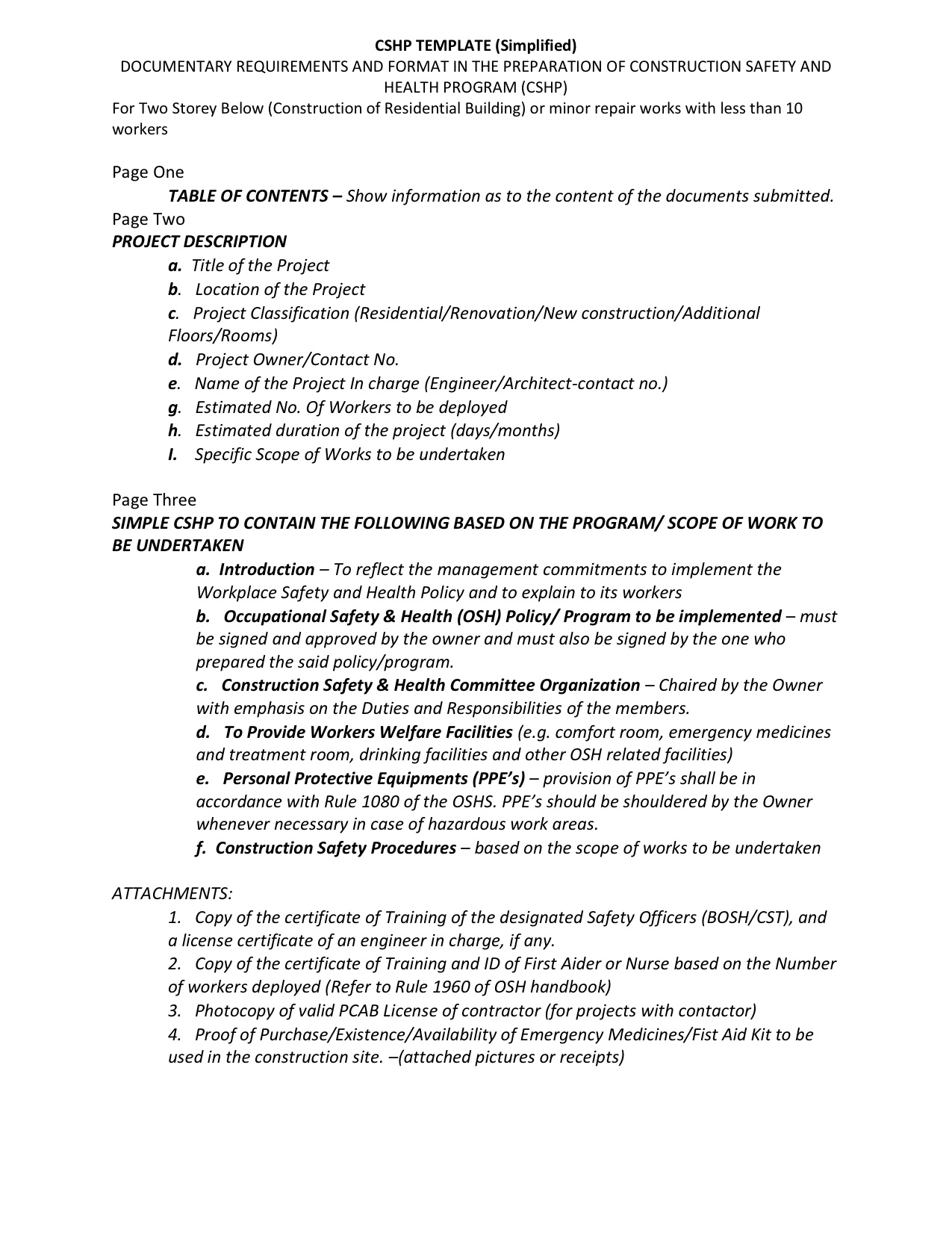 CSHP-doentary-requirements Sample Application For Employment As A Worker on